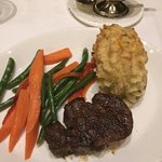Filet mignon with double stuffed potato