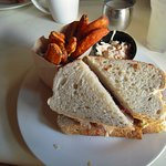 Thanksgiving Turkey Sandwich with Sweet Potato Fries
