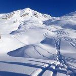 Bluebird conditions last week at Mustang, still plenty of great snow!