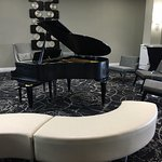 Baby Grand Piano available for guests to play in the lobby