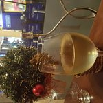 Christmas wine at the bistro