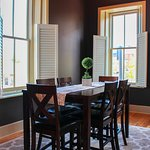 Dining room in apartments