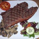 20oz Rump Steak at The Bridge End Inn (20/Dec/16).