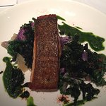 Wild Salmon with Steamed and Crisp Kale