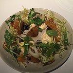 Beet Salad with Burrata, Frisee, Arugula, Blackberries, and Tangerines