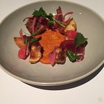 Patatas Bravas with Pickled Onions and Romesco Sauce