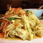 Fried Catfish with Papaya Salad!