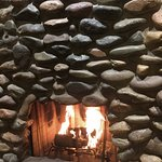 fireplace inside casita suite
