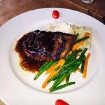 Flat iron steak !!! NC Rainbow Trout.... Delicious #restaurantx #Bistro #davidson