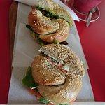 Salmon/Cream-Cheese and Bacon/Avo