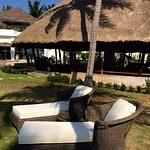 Tropical garden souround the Coconut Restaurant
