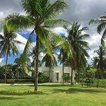 Tropical garden souround the Coconut RestaurantTropical garden souround the Coconut Restaurant