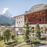 Gemütliche Terrasse mit Matterhorn Blick
