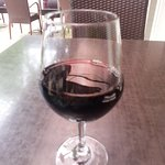 My red wine with lunch