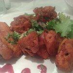 Chicken Tikka Shaslik with Onion Bhajis