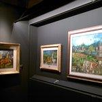 altro scorcio della mostra con i dipinti di Ligabue