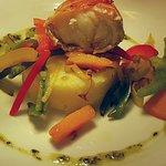 Monkfish wrapped in serano ham