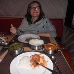 Enjoying great Indian food at Devicos