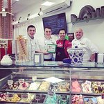 Our opening Day with Gino from MFR! See our Gelato cabinet? We gave it all away for free!