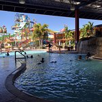 This is a pic of the water park and the HEATED indoor/outdoor pool!