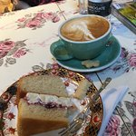 Lovely cup of coffee and cake