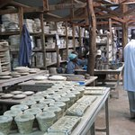 pottery drying area