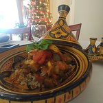 Eggplant Tagine over Mint Capers Cous-Cous  #Vegetarian #Healthyfood #Healthycooking  #vegan ?!
