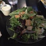 Side salad - alot of greens, not much else