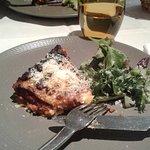 lasagnes et salade de mesclun
