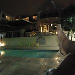 Poolside in the evening! Oh, you betta Belize it!