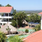 2 bed apartment on top floor...view of pool... squashed in among the hotel buildings. Circula.