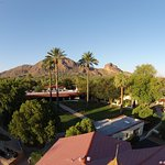 The beautiful grounds with Camelback mountain