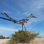 Nearby roadside attraction! Famous Junk Art Roadrunner
