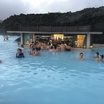 Swim up bar at the Blue Lagoon