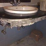 Broken bathroom
