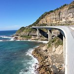 Sea cliff bridge walking parth