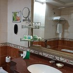 the bathroom and its facilities