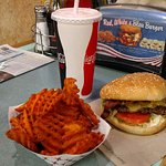 Great Burger and sweet potato fries