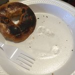 Supplied Styrofoam plates not suitable for hot bagels