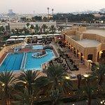 Room view of the pool, Shishah smoking area, Gym