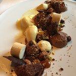 Chocolat Guanaja, parfait caramel, sorbet fruits de la passion