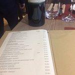 Κατάλογος κρασιών και το κρασί που ήπιαμε