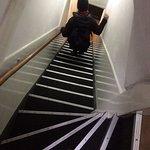 Branta trappor på gränsen till stege.