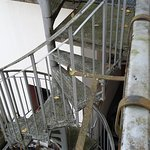 escaliers de secours moisis
