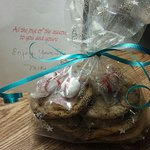 Welcome gift in our room - homemade cookies and treats