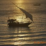 sunset over Indian Ocean Zanzibar
