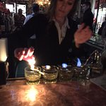 Bartender making absinthe drinks!