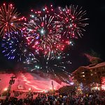 New Year's Eve Fireworks on the mountain