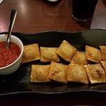 Toasted Beef Ravioli w/ marinara sauce