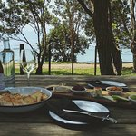 Cheese and wine with a view.